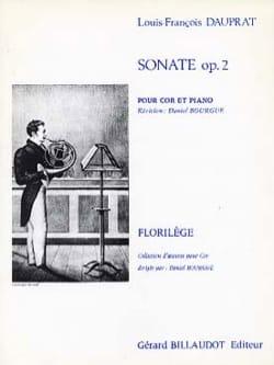 Sonate Opus 2 Louis-Francois Dauprat Partition Cor - laflutedepan