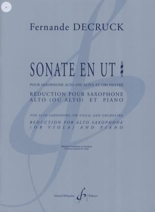 Fernande Decruck - Sonata in C # - Partitura - di-arezzo.it