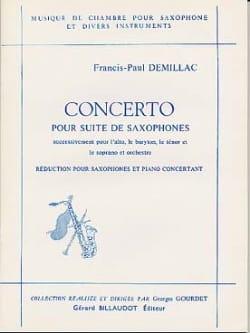 Francis-Paul Demillac - Concerto Pour Suite de Saxophones - Partition - di-arezzo.fr