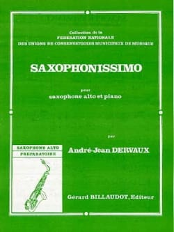 André-Jean Dervaux - Saxophonissimo - Partition - di-arezzo.fr