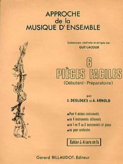 Desloges J. / Arnold A. - 6 Easy Parts Volume J - Sheet Music - di-arezzo.com