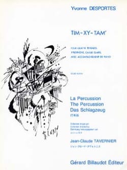 Tim-Xy-Tam Yvonne Desportes Partition Multi Percussions - laflutedepan