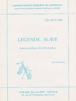 Légende Slave - Dia Succari - Partition - Saxophone - laflutedepan.com