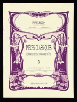 Pièces Classiques Volume 3 Partition Marimba - laflutedepan