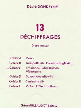 Désiré Dondeyne - 13 Déchiffrages Moyen Volume C - Partition - di-arezzo.fr