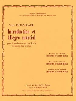 Dorsselaer Willy Van - Introduction And Allegro Martial - Sheet Music - di-arezzo.co.uk