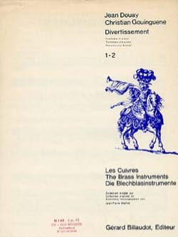 Divertissement Douay J. / Gouinguene C. Partition laflutedepan