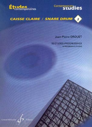 Jean-Pierre Drouet - 18 Progressive studies - Contemporary studies snare drum 3 - Sheet Music - di-arezzo.co.uk