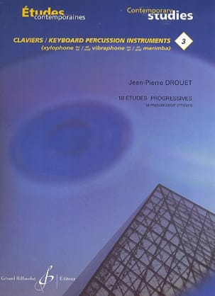 Jean-Pierre Drouet - 3-18 Progressive Studies - Contemporary Keyboard Studies 3 - Partitura - di-arezzo.it