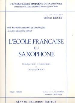 Ecole Francaise Du Saxophone Volume 3 - Expression - laflutedepan.com