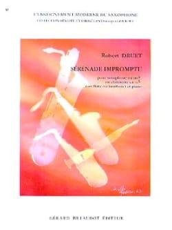 Robert Druet - Sérénade Impromptu - Partition - di-arezzo.fr