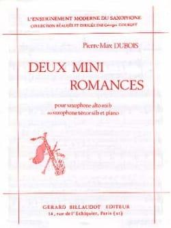 2 Mini Romances Pierre-Max Dubois Partition Saxophone - laflutedepan