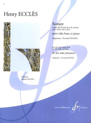 Henry Ecclès - Sonate - Partition - di-arezzo.fr