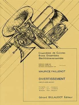 Maurice Faillenot - Divertissement (Dans le Style Ancien) - Partition - di-arezzo.fr