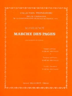 Maurice Faillenot - Marche Des Pages - Partition - di-arezzo.fr