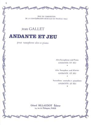 Andante Et Jeu - Jean Gallet - Partition - laflutedepan.com