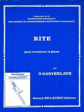 Rite - Odette Gartenlaub - Partition - Trombone - laflutedepan.com