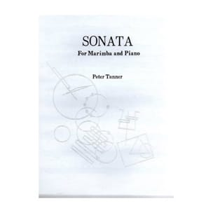 Sonata - Peter Tanner - Partition - Marimba - laflutedepan.com