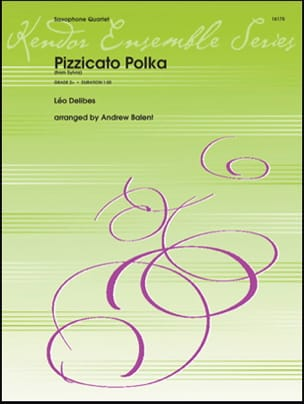 Pizzicato Polka DELIBES Partition Saxophone - laflutedepan