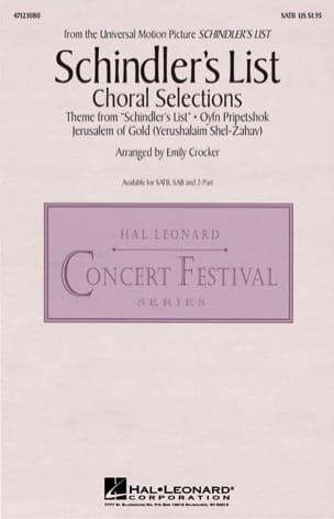 John Williams - La Liste de Schindler - Musique du Film pour Chorale - Partition - di-arezzo.fr