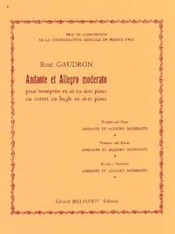 Andante Et Allegro Moderato René Gaudron Partition laflutedepan