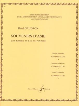 Souvenirs D'asie - René Gaudron - Partition - laflutedepan.com