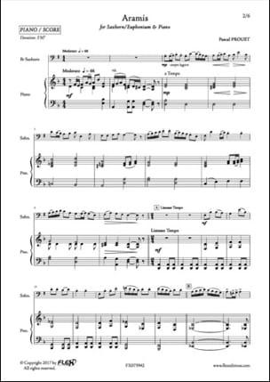 Aramis - Pascal Proust - Partition - Tuba - laflutedepan.com
