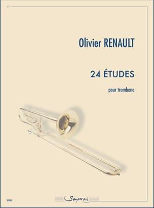 24 études Olivier Renault Partition Trombone - laflutedepan