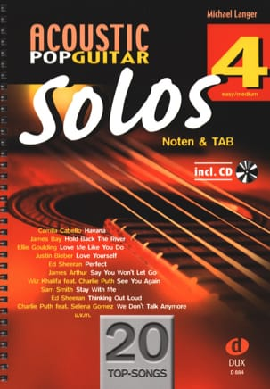 Acoustic Pop Guitar Solos - Volume 4 - Sheet Music - di-arezzo.co.uk