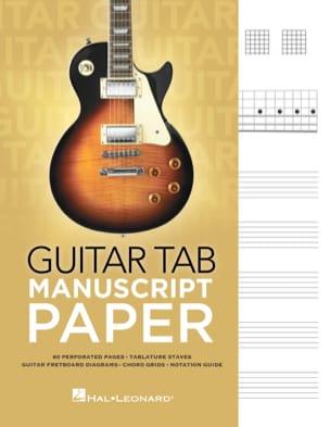Cahier tablature spécial guitare - laflutedepan.com