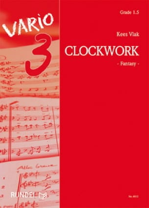 Clockwork Kees Vlak Partition ENSEMBLES - laflutedepan