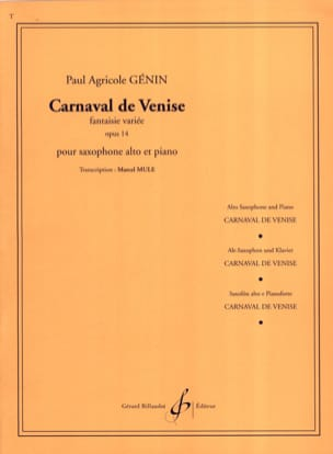 Paul Agricol Genin - Carnival of Venice Opus 14 - Sheet Music - di-arezzo.co.uk