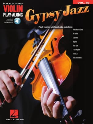 Violin Play-Along Volume 80 - Gypsy Jazz Partition laflutedepan