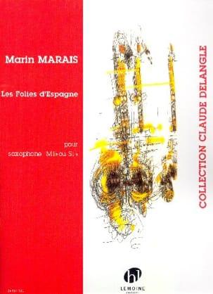 Folies d'Espagne Marin Marais Partition Saxophone - laflutedepan