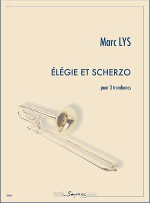 Elégie et scherzo - Marc Lys - Partition - Trombone - laflutedepan.com