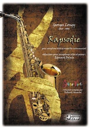 Rapsodie - Georges Longy - Partition - Saxophone - laflutedepan.com