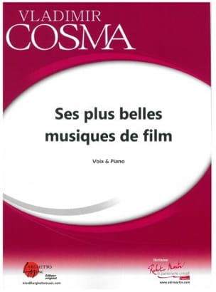 Vladimir Cosma - His most beautiful film scores for Voice and Piano - Sheet Music - di-arezzo.com