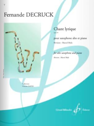 Fernande Decruck - Chant Lyrique - Partition - di-arezzo.fr