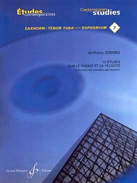 Anthony Girard - 15 Etudes de phrase et de vélocite - Partition - di-arezzo.fr