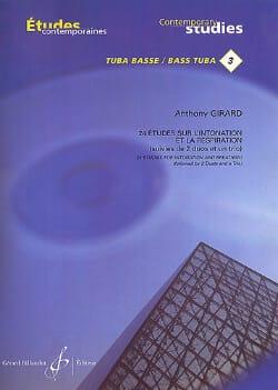 Anthony Girard - 24 Etudes sur l' intonation et la respiration - Partition - di-arezzo.fr