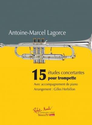 Antoine-Marcel Lagorce - 15 concert studies for Trumpet - Sheet Music - di-arezzo.co.uk