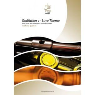 Le Parrain, Love Theme - Quatuor de Flutes ROTA Partition laflutedepan