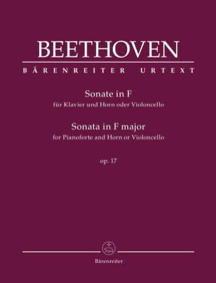 Sonate pour Cor et Piano en Fa Majeur Opus 17 BEETHOVEN laflutedepan