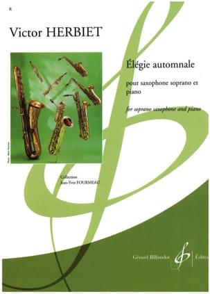 Elégie automnale Victor Herbiet Partition Saxophone - laflutedepan