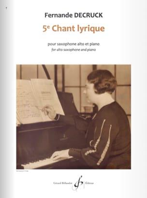 5e chant lyrique - Fernande Decruck - Partition - laflutedepan.com