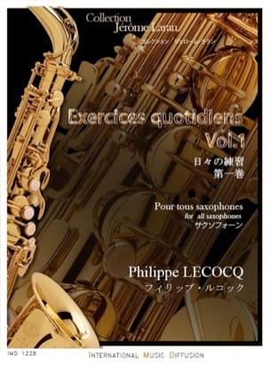 Exercices Quotidiens - Volume 1 Philippe Lecocq laflutedepan