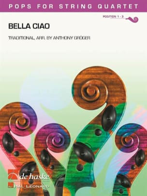 Bella Ciao - Pops for String Quartet Partition laflutedepan