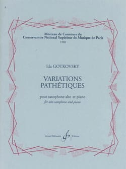 Ida Gotkovsky - Pathetic Variations - Sheet Music - di-arezzo.co.uk