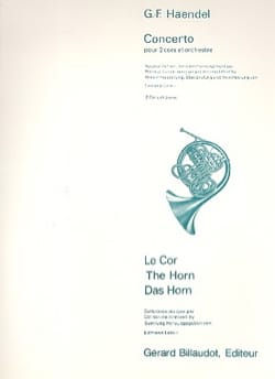 Concerto - HAENDEL - Partition - Cor - laflutedepan.com