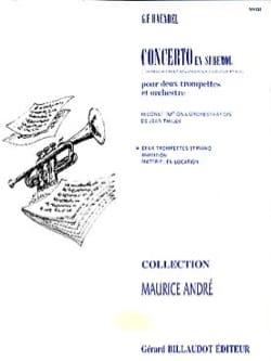Concerto En Sib HAENDEL Partition Trompette - laflutedepan
